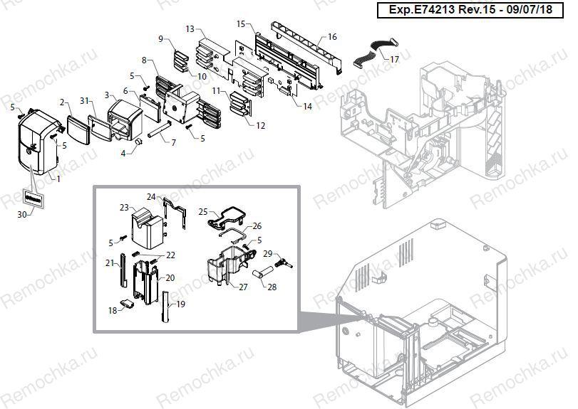 SAECO GAGGIA CONTACT THERMOSTAT 127°C 10A  120V-250V